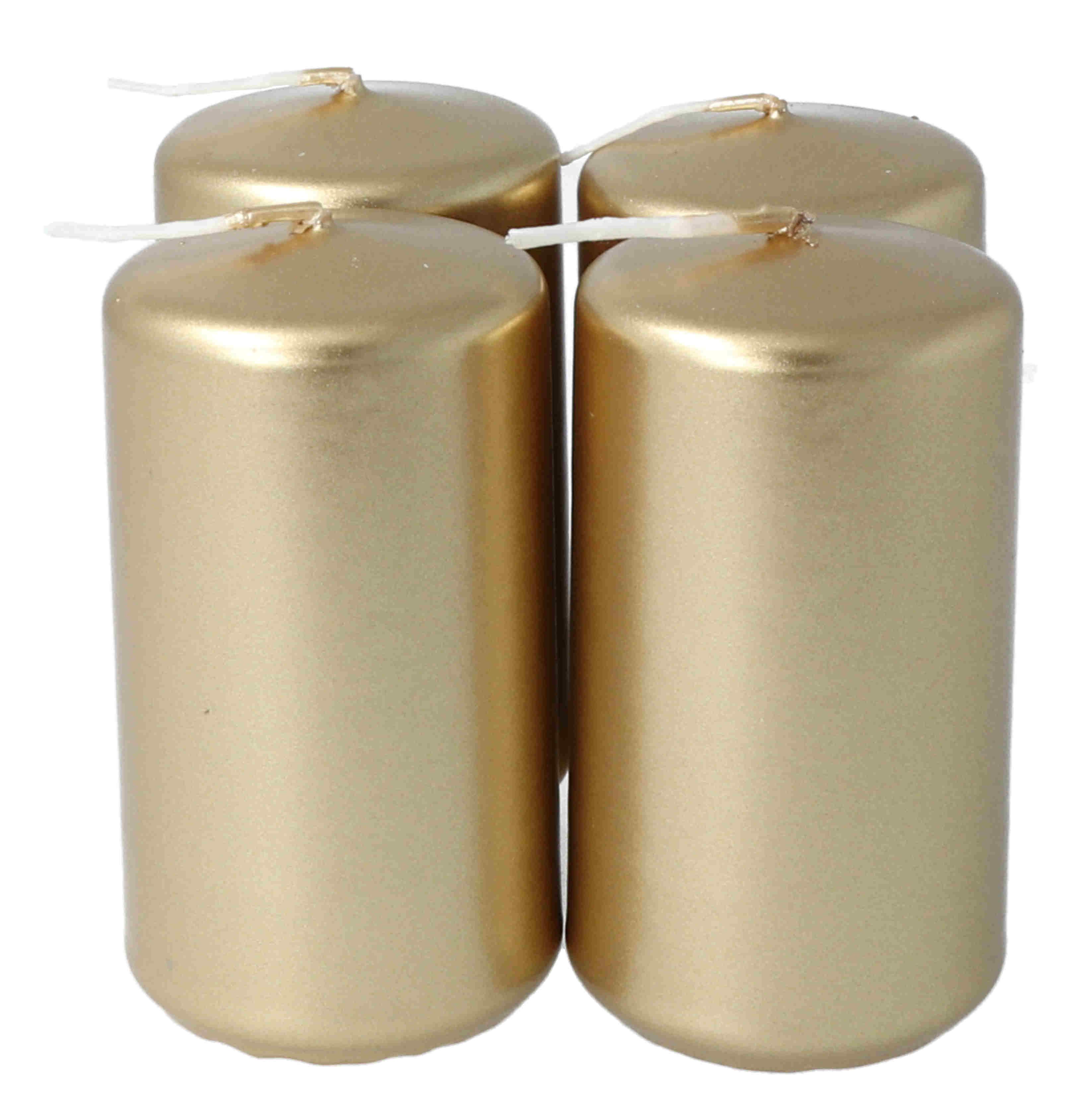 Stumpen 50 x 90 mm 4er, metallic gold