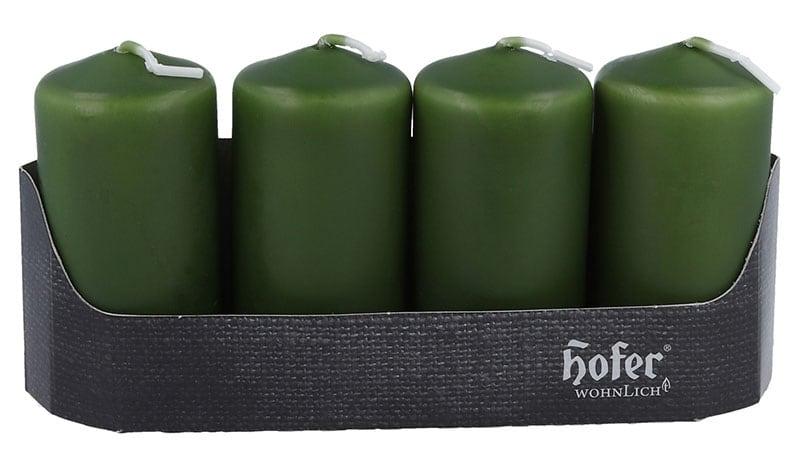 Stumpen 40 x 80 mm 4er, olivgrün
