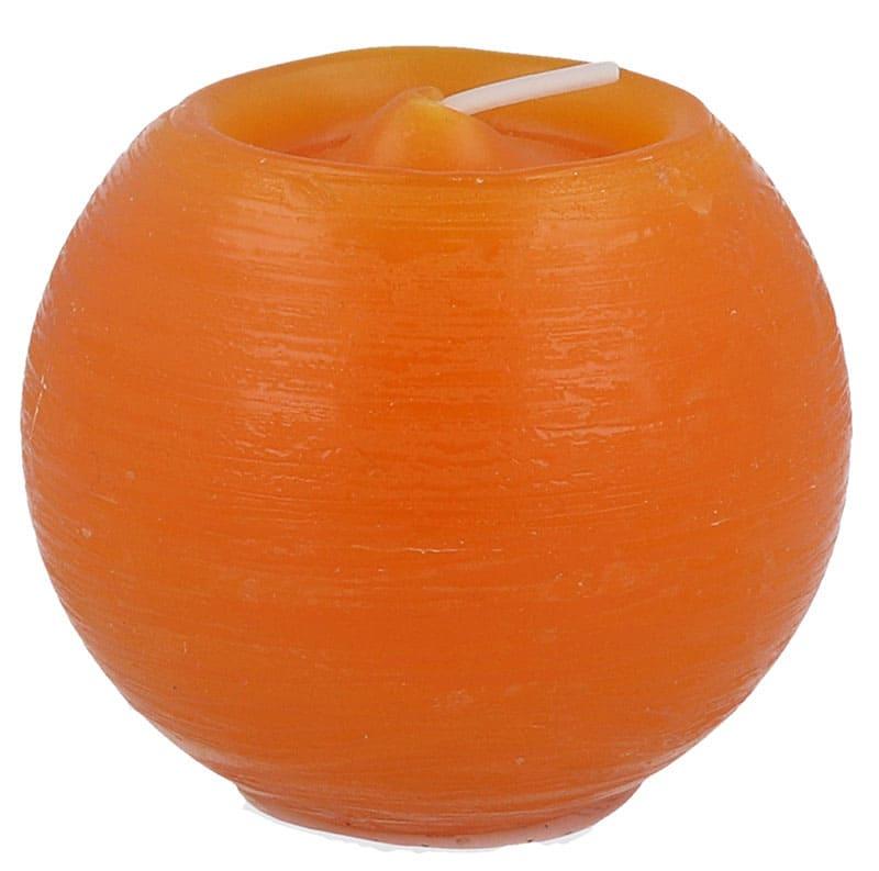 Rustik Kugelkerze Ø 80 mm, mandarin