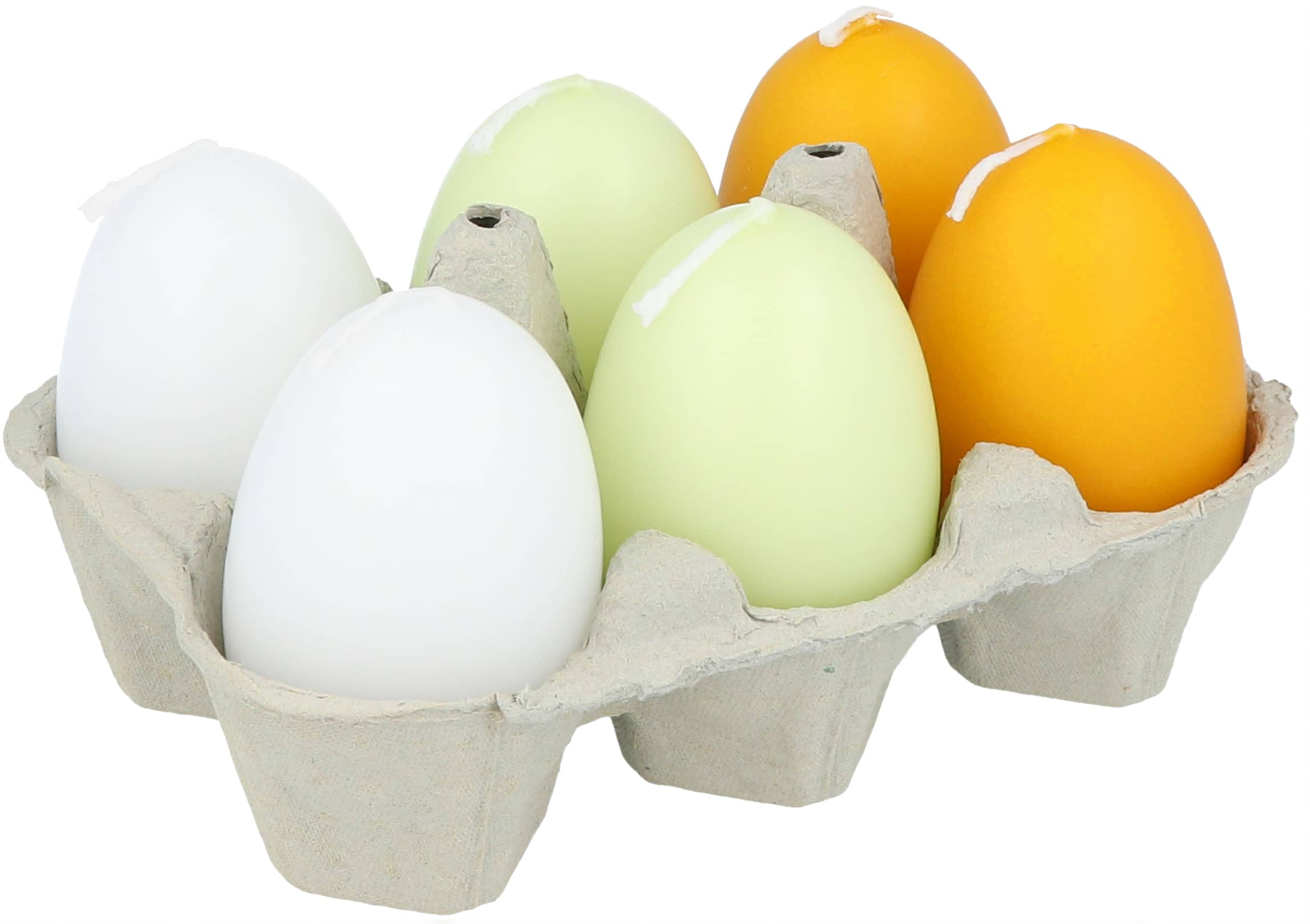 Eierkerze lackiert, 6er
