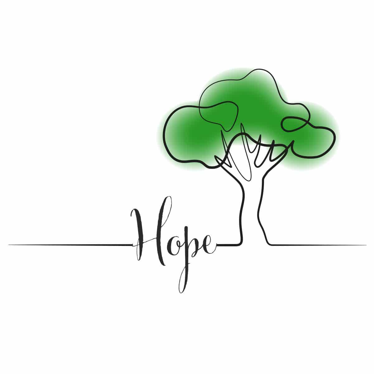 Design-Licht HOPE, groß