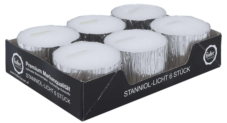 Hofer Stanniol-Licht silber, 6er