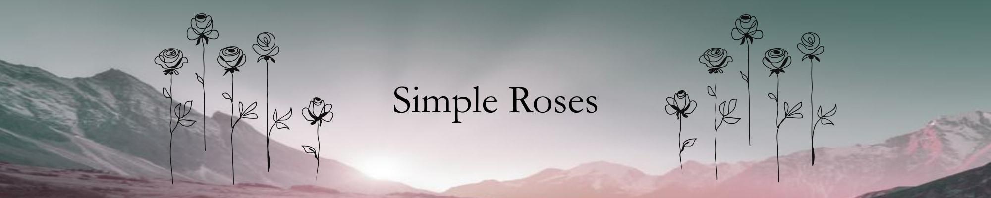 Header Simple Roses