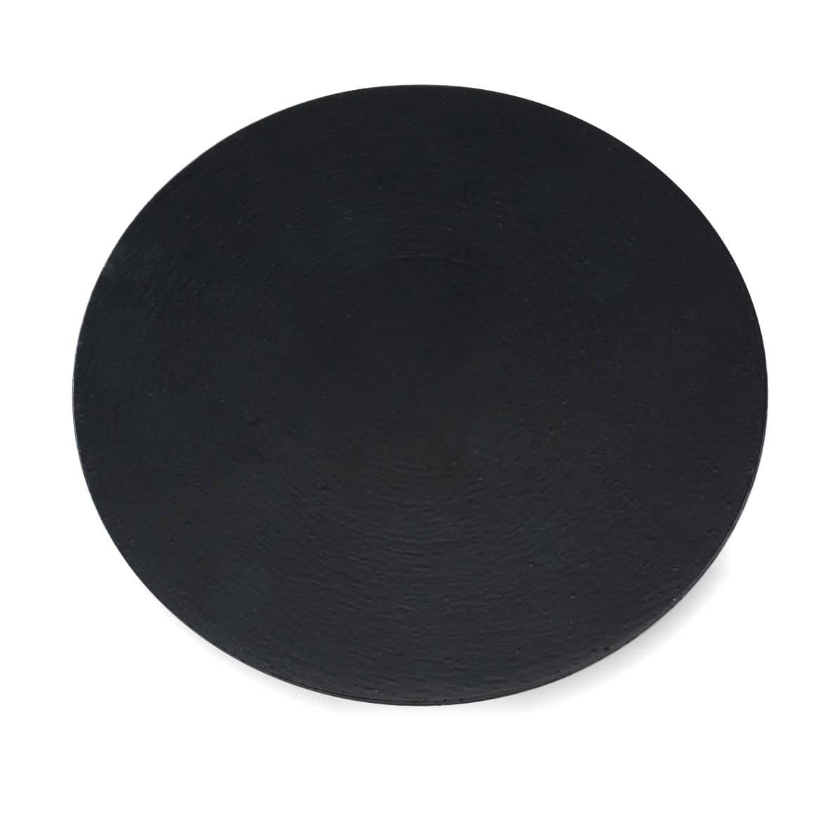 Kerzenteller Alu 140 mm, schwarz