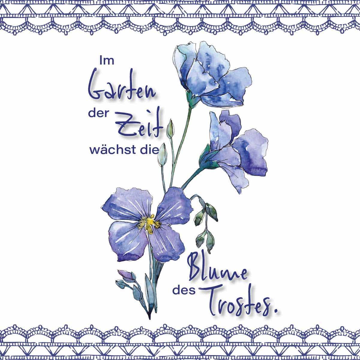 Hofer Premium 7 Tage Motivlicht Bouquet, BLAU