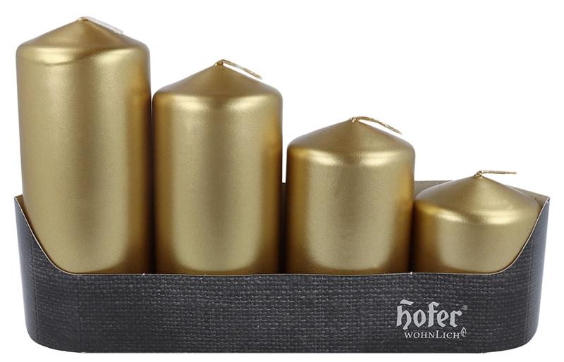 Stufenstumpen 4er, metallic gold
