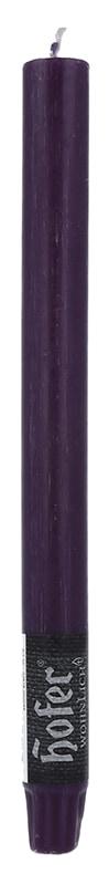 Rustik Stabkerze, aubergine