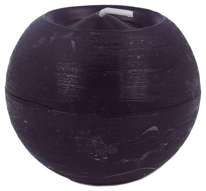 Rustik Kugelkerze Ø 80 mm, aubergine