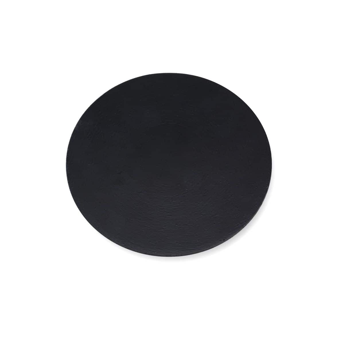 Kerzenteller Alu 100 mm, schwarz