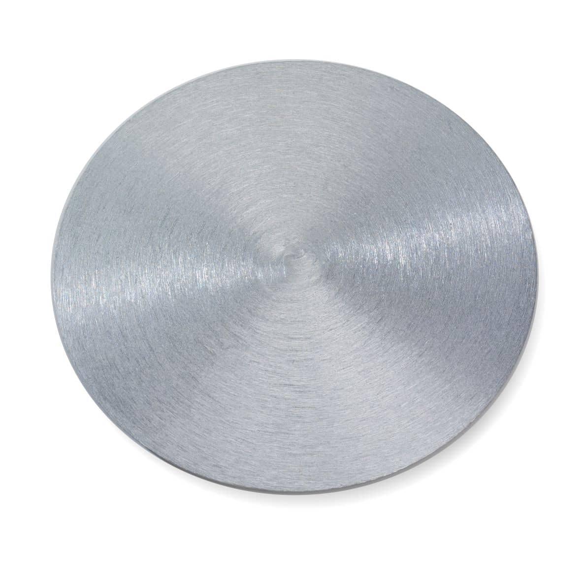 Kerzenteller Alu 140 mm, silber