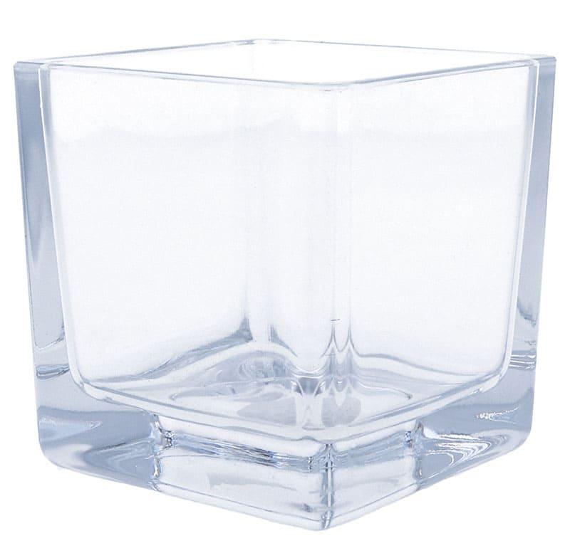 Kerzenglas CUBE, 75 x 75 mm