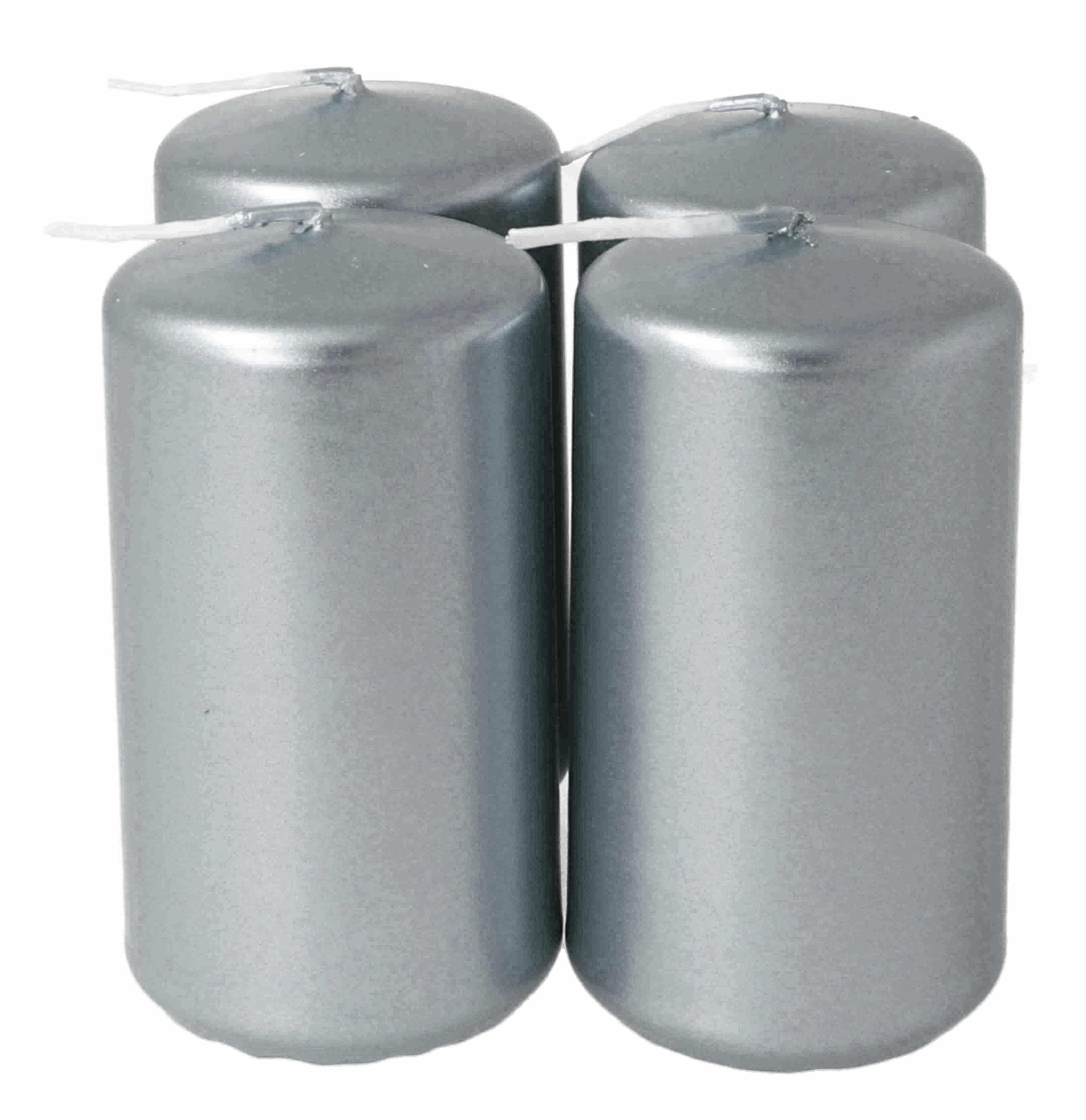 Stumpen 50 x 90 mm 4er, metallic silber